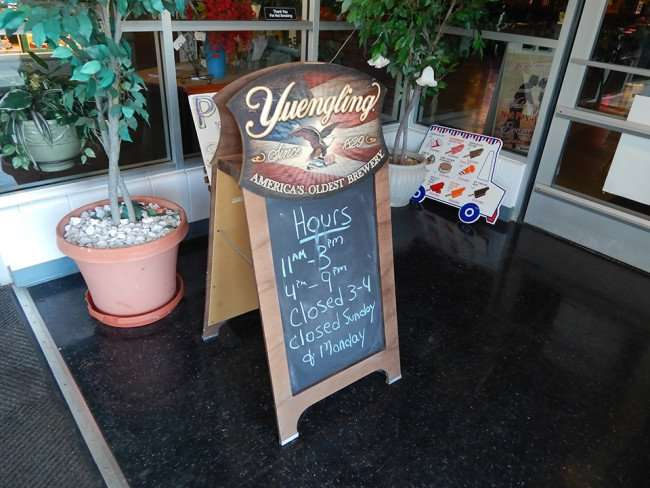 MAY 7, 2015: Hours posted on chalk board for San Vito Italian Restaurant and Pizza in Ruskin, FL/photonews247.com