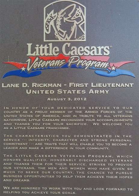 MAY 5, 2015: Little Caesars Pizza Ruskin welcomes LT Land Rickman as franchisee/2015 photonews247.com