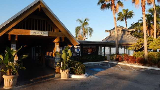 MAY 10, 2015: Entrance to Sunset Lounge in Little Harbor, Ruskin South Shore, FL / Photo News 247