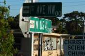 MAY 10, 2015: LAF! (Lost And Found) painted on abandon building on 1st Ave and US 41, Ruskin South Shore, FL/ Photo News 247