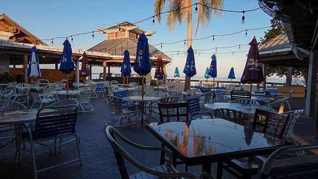 MAY 10, 2015: Patio outside in Sunset Tiki Bar area in Little Harbor of South Shore, FL / Photo News 247