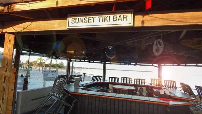 MAY 10, 2015: Sunset Tiki Bar at Sunset Grille in Little Harbor, Ruskin South Shore, FL / Photo News 247