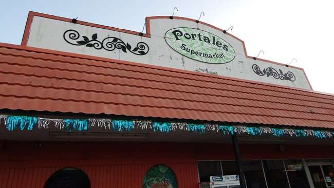 MAY 12, 2015: Portales Super Market in Twin Oaks Plaza on US 41, Gibsonton South Shore, FL / Photo News 247
