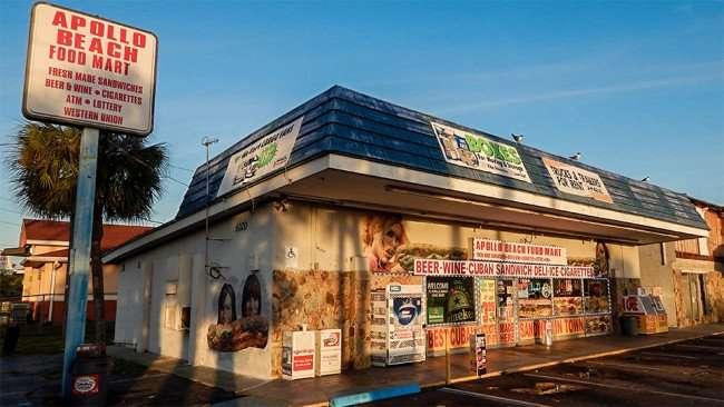 MAY 13, 2015 - Apollo Beach Convenience Store in Apollo Beach Shopping Center on 6020 US 41