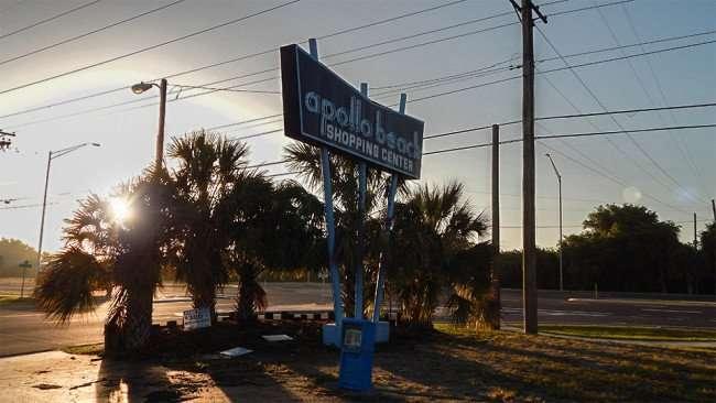 MAY 13, 2015 - Apollo Beach Shopping Center sign along US-41