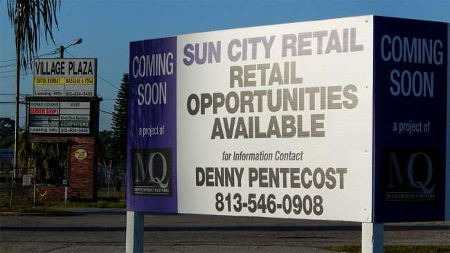 MAY 13, 2015 - MQ Development Partners and Sun City Center Retail LLC with opportunities available coming soon