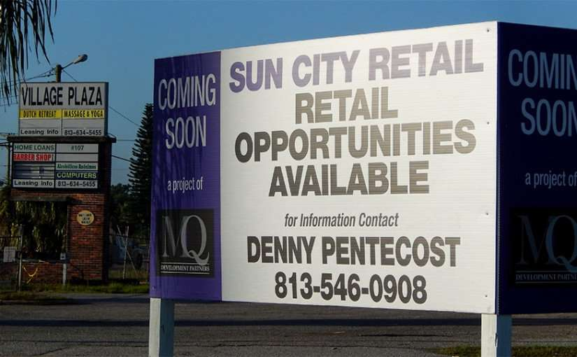 MAY 13, 2015 - MQ Development Partners Sun City Center Retail opportunities available coming soon