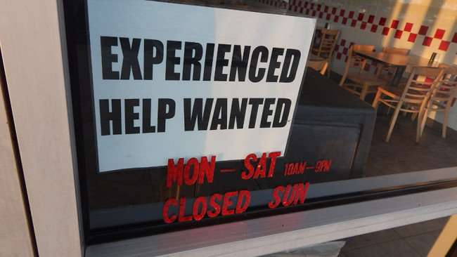 MAY 14, 2015 - Experienced Help Wanted at Peck's Flamed Broiled Chicken in Winn Dixie shopping center on Big Bend, Riverview South Shore, FL