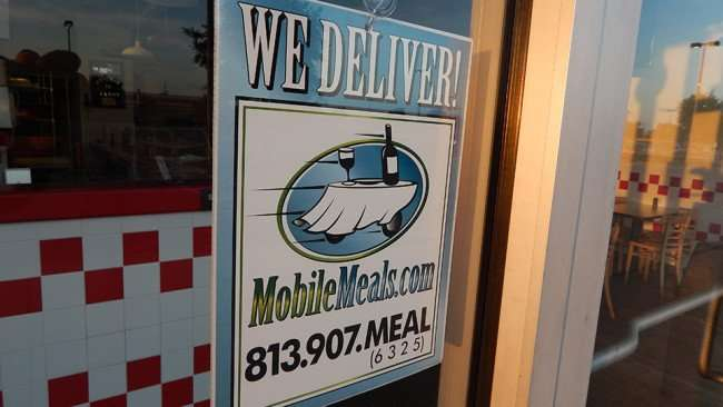 MAY 14, 2015 - Peck's Flame Broiled Chicken delivers with MobileMeals.com 813 907-MEAL (6325) on Big Bend, Riverview South Shore, FL