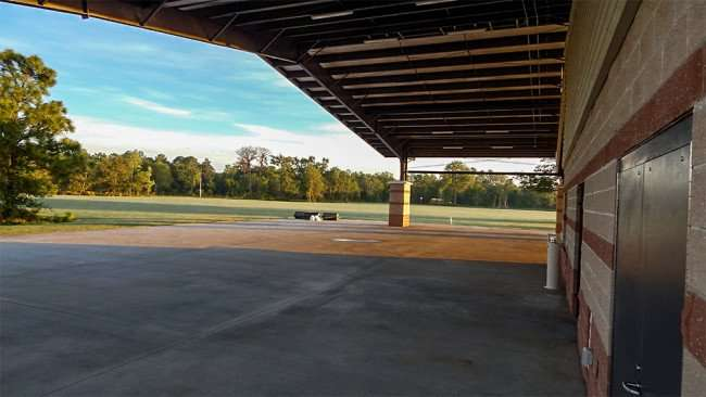 MAY 15, 2015 - A view of baseball field under picnic pavilion at The Family Y at Big Bend, Gibsonton, FL