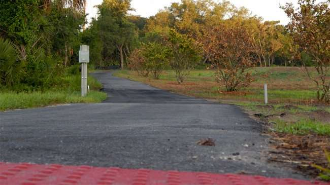 MAY 15, 2015 - One mile fitness jogging trail at The Family Y at Big Bend, Gibsonton, FL