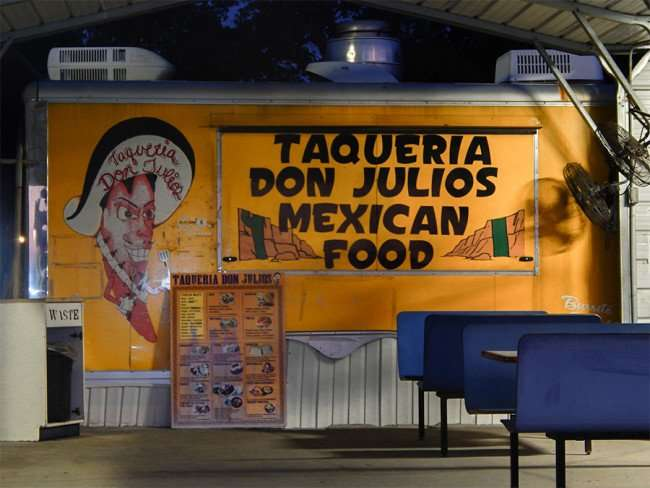 MAY 16, 2015 - TAQUERIA DON JULIOS authentic Mexican roadside restaurant on US 301, Riverview South Shore, FL