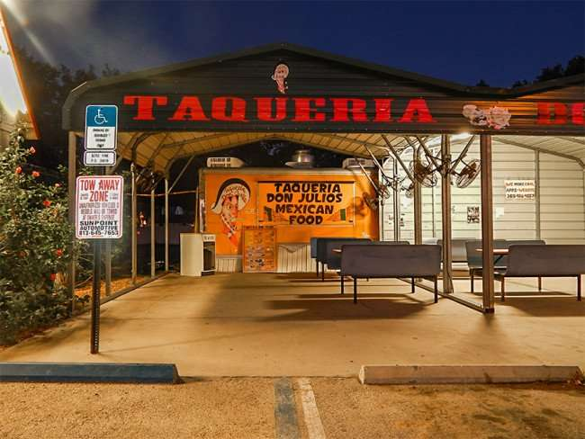 MAY 16, 2015 - TAQUERIA DON JULIOS authentic mexican food with outside dining on US 301, Riverview South Shore, FL