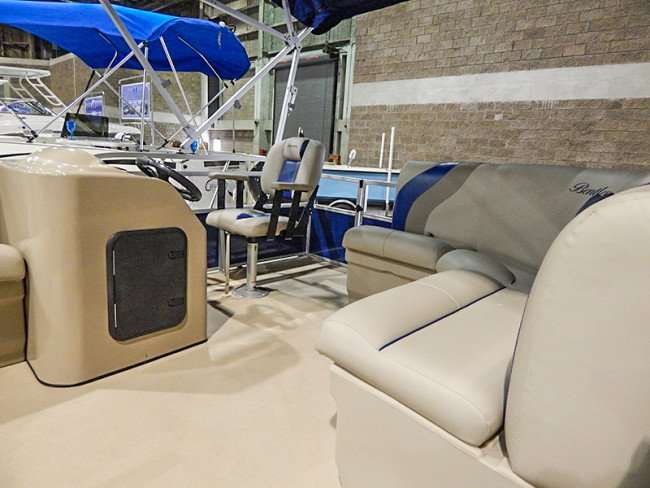 MAY 17, 2015 - 18 foot Bentley 180 SE Cruiser boat sold, Tampa Bay Boat Show 2015, Expo Hall at Florida State Fairgrounds