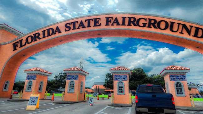 MAY 17, 2015 - 6 dollar parking at Florida State Fairgrounds (animated in Photoshop)