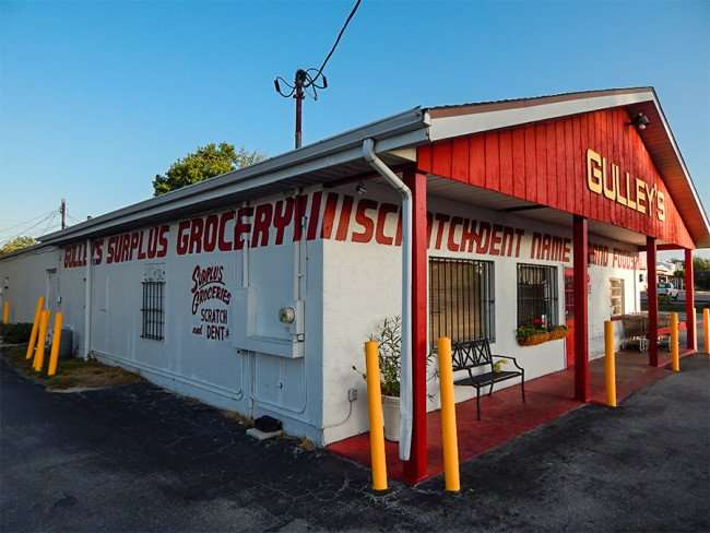 MAY 17, 2015 - Gulleys Scatch and Dent discount grocery store on US-41, Ruskin South Shore, FL