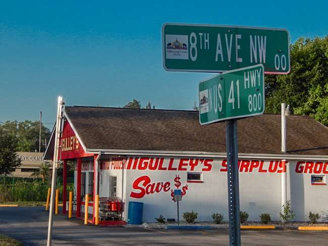 MAY 17, 2015 - Gulleys Surplus Grocery intersection of 8th Ave and US-41, Ruskin South Shore, FL