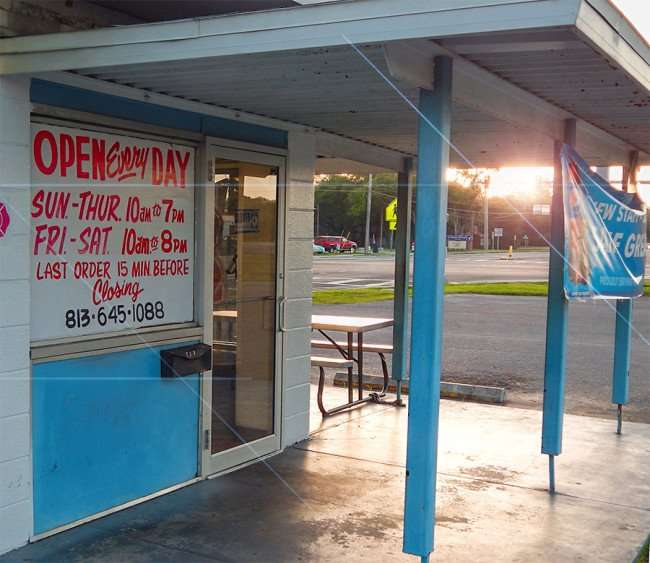 MAY 17, 2015 - Open 7 days a week Marian's Submarine Sandwich and Tacos restaurant, Ruskin South Shore, FL