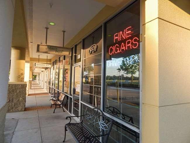 MAY 18, 2015 - Cigar shop in retirement community of Sun City Center, FL