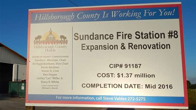 MAY 21, 2015 - Construction of Sundance Fire Station 8 on Lightfoot Road in Wimauma, FL