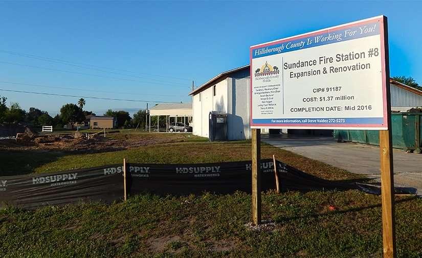MAY 21, 2015 - Construction of Sundance Fire Station 8, Lightfoot Rd, Wimauma, FL