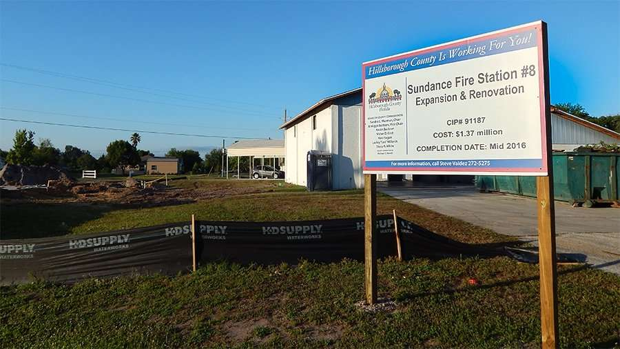 MAY 21, 2015 - Construction of Sundance Fire Station 8, Lightfoot Rd, Wimauma, FL