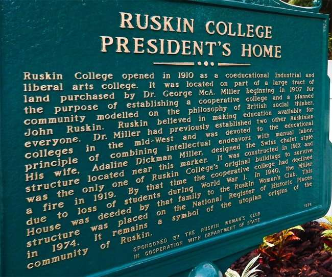 MAY 22, 2015 - Historical Marker at Ruskin Womens Club, Hwy 41, Ruskin South Shore, FL