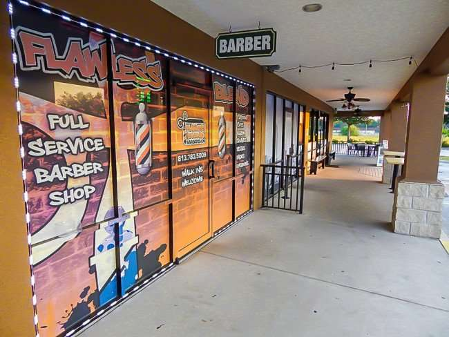 MAY 23, 2015 - Best window graphics on Barbershop in the Tampa Bay area