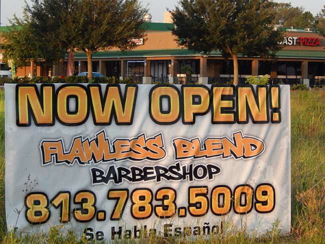 MAY 23, 2015 - Flawless Blend Barbershop, Big Bend Rd, Riverview South Shore, FL 813 783-5009