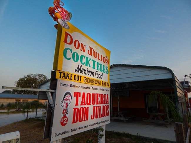 MAY 24, 2015 - Don Julios Cockteles Mexican restuarant for tacos and burritos SR 674, Wimauma, FL