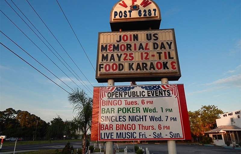 MAY 25, 2015 - RUSKIN VFW POST 6287 Food and Karaoke Memorial Day 2015
