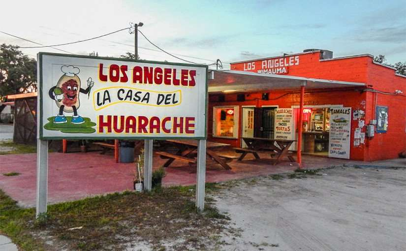 MAY 26, 2015 - Los Angeles La Casa Del Huarache restaurant on 674 in Wimauma, FL