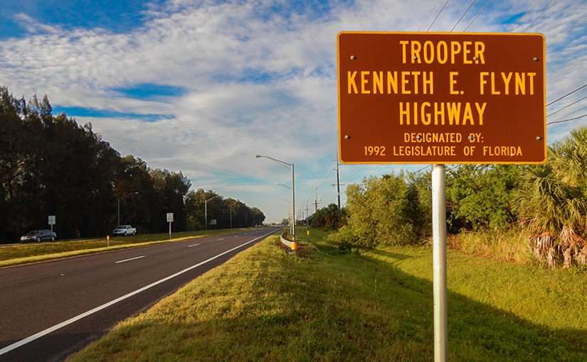 MAY 27, 2015 - Trooper Kenneth E Flynt Highway designated in 1992 by Florida State Legislature