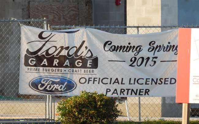 MAY 28, 2015 - Construction of Ford's Garage Restaurant for prime burgers and craft Beer on Causeway and Providence Lakes Blvd, Brandon, FL