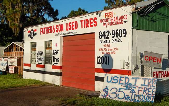 Father & Son Used Tires free mount and balance with purchase, Gibsonton, FL