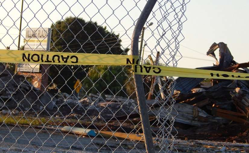 May 9, 2015: Village Plaza totally demolished except for sign, Wimauma, FL/photonews247.com