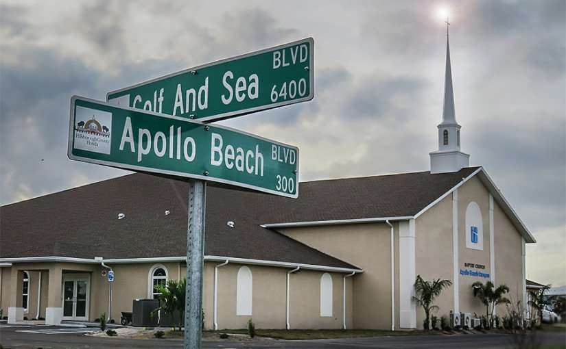 DEC 9, 2015 - New building at Bell Shoals Baptist Church on Apollo Beach Blvd with Cross/photonews247.com