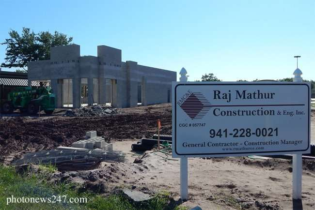 MAY 4, 2015: Raj Mathur Construction building Dunkin Donuts in Sun City Center, FL/photonews247.com