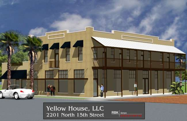 Rendering of the The Yellow House commercial complexe that was halted for unknown reasons/courtesy of RBK Architects