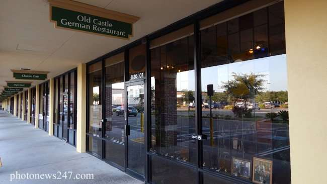 May 5, 2015: Front entrance of German restaurant early in the morning before opeing time in South Shore Florida in Ruskin/2015 photonews247.com