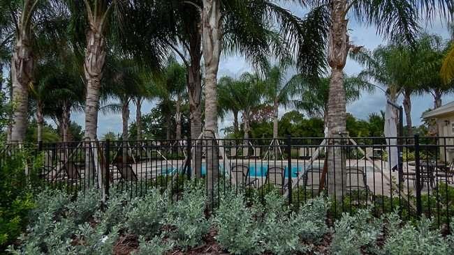 JUNE 12, 2015 - Fence around new Verona pool in Renaissance neighborhood of Sun City Center, FL
