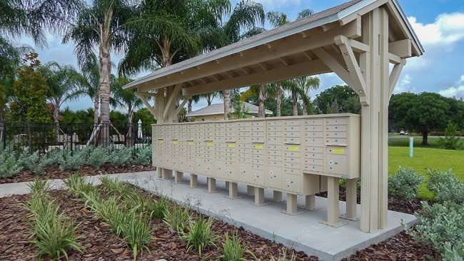 JUNE 12, 2015 - US Mailboxes next to the pool at Verona Renaissance, Sun City Center, FL