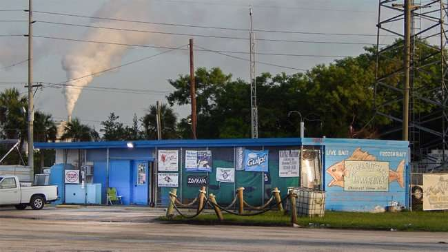 June 10, 2015 - Alafia Bait and Tackle shop early morning on US 41 in Gibsonton, FL