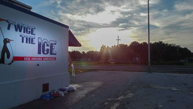 June 10, 2015 - Ice Machine on US-41, Twice The Ice, Ice House America sunrise Gibsonton South Shore, FL
