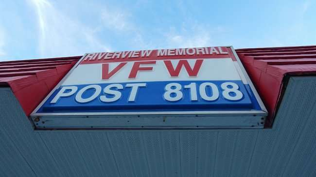 June 10, 2015 - Sign on Riverview Memorial VFW Post 8101, Riverview Drive