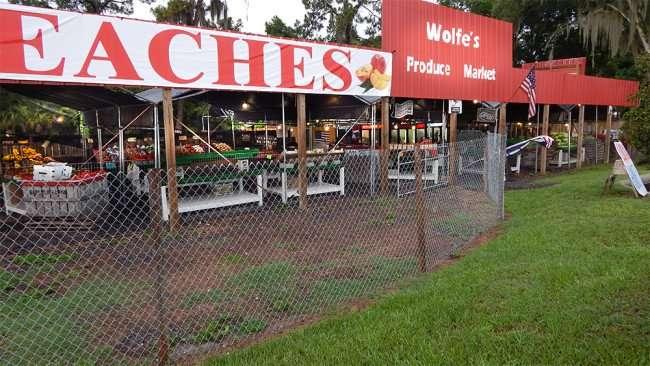 June 11, 2015 - Bannana, tomatos, water mellon at Wolfe's Produce Market at the intersection of Brandon Circle and US Hwy 301, Riverview, FL