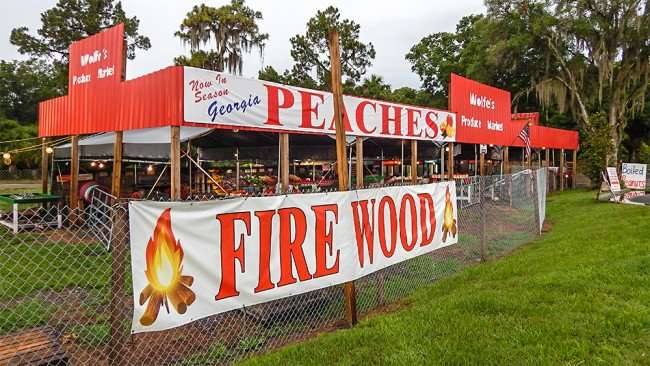 June 11, 2015 - Fire Wood at Wolfws Produce Market, Riverview, FL