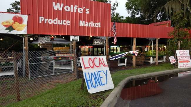 June 11, 2015 - Local Honey sold at Wolfe's Produce Market, Riverview, FL