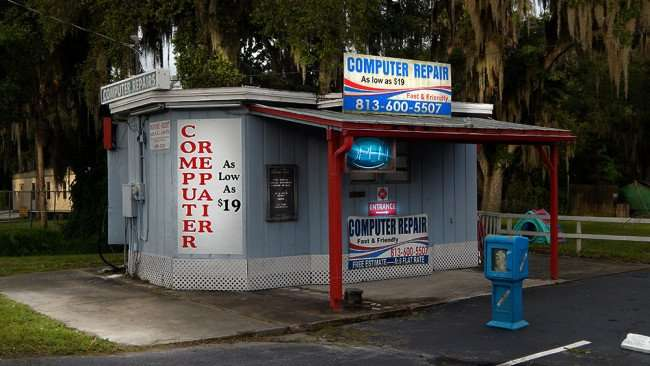 June 11, 2015 - Not-A-Geek Computer Repair building for 24 hour service, Riverview South Shore, FL