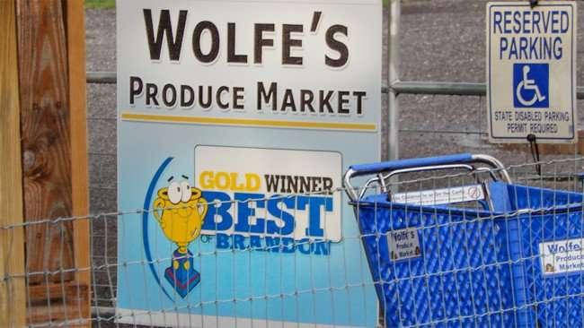 June 11, 2015 - Wolfe's Produce Market awarded Gold Winner Best Of Brandon